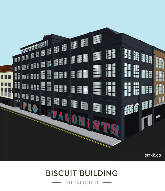 Illustration of The Biscuit Building Shoreditch